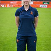 NLD/Velsen/20130701 - Selectie Nederlands Dames voetbal Elftal, teammanager Sonja van Geerenstein