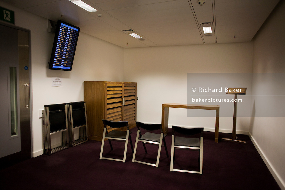 A Multi-faith worship room in the departures section at Heathrow airport's Terminal 5. .