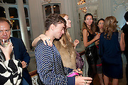 ROBIE FURZE; MARY CHARTERIS, Glenda Bailey's Bazaar Greatest Hits book party. Savile Club. Brook St. London. 18 September 2011. <br /> <br />  , -DO NOT ARCHIVE-© Copyright Photograph by Dafydd Jones. 248 Clapham Rd. London SW9 0PZ. Tel 0207 820 0771. www.dafjones.com.