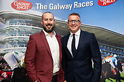 25/09/2018 Repro free:Kieran O Malley and James Heaslip at the launch of Galway Racecourse  details of their new and exciting three-day October Festival that takes place over the Bank Holiday weekend, Saturday 27th, Sunday 28th and Monday 29th continuing racing and glamour into the Autumn.<br />   Each of the three race days offers something for all the family to enjoy, with a special theme attached to each day, together with fantastic horse racing, live music, delicious hospitality, entertainment and of course the meeting of old friends and new at Ballybrit.  <br /> Halloween Family Fun <br /> On Saturday 27th October come along with your children and grand children and enjoy the 'Spooktacular' Halloween themed family fun day with lots of entertainment including a fancy-dress competition, Halloween games and face painting to mention but a few!! All weekend children under 16 years of age have free admission. <br /> Race in Pink <br /> As part of this new October Festival and with-it being Breast Cancer Awareness month, Galway Racecourse have partnered with The National Breast Cancer Research Institute to host a dedicated fundraiser on Sunday 28th October called 'Race in Pink'.  <br /> <br /> Student Race Day in aid of the Voluntary Services Abroad <br /> Monday sees the return of our annual 'Student Race Day' in conjunction with the Voluntary Services Abroad (a medical aid charity run by the fourth-year medical students of NUI, Galway), and the NUIG Rugby Club.  Each year, this fundraising day for the student organisations raises a tremendous amount of money for their chosen projects including the VSA annual summer volunteer trip to Africa where they use the funds raised to help projects at the hospitals they visit. <br />  National hunt racing on Saturday kicks off at 2.05pm with racing Sunday and Monday off at 1.05pm. Adult admission on all three days is €15 with children under 16 years of age, free. For more information please check out www.galwayraces.com <br />