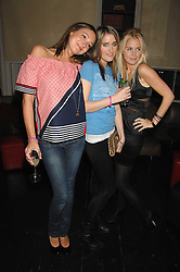 Left to right, GEORGIE LANGTON,  VIOLET VON WESTENHOLTZ and MARISSA MONTGOMERY at a leaving party for Poppy Delevigne who is going to New York to persue a career as an actress, held at Chloe, Cromwell Road, London on 25th January 2007.<br />