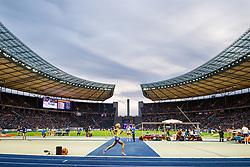 August 12, 2018 - Berlin, GERMANY - 180812 Linn Nilsson of Sweden competes in the women´s 5000 meter final during the European Athletics Championships on August 12, 2018 in Berlin..Photo: Vegard Wivestad Grøtt / BILDBYRÃ…N / kod VG / 170206 (Credit Image: © Vegard Wivestad GrØTt/Bildbyran via ZUMA Press)