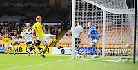 GOAL - Fleetwood Town's Mark Roberts scores his sides second goal <br /> <br /> Photographer Kevin Barnes/CameraSport<br /> <br /> Football - The Football League Sky Bet League One - Port Vale v Fleetwood Town - Sunday 3rd May 2015 - Vale Park - Stoke-on-Trent<br /> <br /> © CameraSport - 43 Linden Ave. Countesthorpe. Leicester. England. LE8 5PG - Tel: +44 (0) 116 277 4147 - admin@camerasport.com - www.camerasport.com