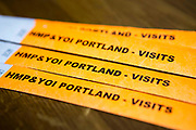 Visit security wrist bands for HMP/YOI Portland, a resettlement prison with a capacity for 530 prisoners.