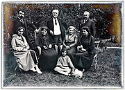 three generation family group portrait early 1900s France