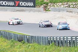 """20.05.2012, Salzburgring, Salzburg, AUT, FIA, WTTC Rennen 2, im Bild #8, Alain Menu (SUI), Chevrolet, Chevrolet Cruze 1.6 T, vor #15,Tom Coronel (NED), ROAL Motorsport, BMW E90 320 TC und vor #26, Stefano D Aste (ITA), Wiechers Sport, BMW E90 320 TC // during the FIA WTCC Series Austrian Race two, held at the """"Salzburgring"""" near Salzburg, Austria on 2012/05/20. EXPA Pictures © 2012, PhotoCredit: EXPA/ Juergen .Feichter"""
