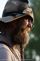 Nick Huff, of Knives by Nick, at the Tennessee Motorcycles and Music Revival at Loretta Lynn's Ranch. Hurricane Mills, TN, USA. Saturday, May 22, 2021. Photography ©2021 Michael Lichter.