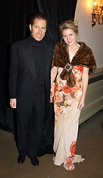 VISCOUNT & VISCOUNTESS LINLEY  at a private dinner to unveil the Van Cleef & Arpels jewellery collection 'Couture' with fashion by Anouska Hempel Couture held at The Banqueting House, Whitehall Palace, London on 8th March 2005.<br />