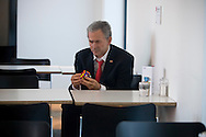 """""""George Bush with Rubik's Cube, 2008"""" and installation by British artist Alison Jackson on display in the cafe at the Tate, Liverpool as part of the 2008 Liverpool Biennial, the UK's largest contemporary international arts festival. The Biennial commenced on September 20 and runs until the end of November. Liverpool was also 2008 European Capital of Culture."""