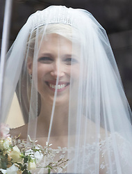 May 18, 2019 - Windsor, United Kingdom - Image licensed to i-Images Picture Agency. 18/05/2019. Windsor , United Kingdom.  Lady Gabriella Windsor arriving for her wedding to Thomas Kingston at St.George's Chapel, Windsor, United Kingdom. (Credit Image: © Stephen Lock/i-Images via ZUMA Press)