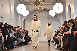 Models on the catwalk during the Pringle Autumn/Winter 2017 London Fashion Week show at One Marylebone, London. Picture date: Monday February 20th, 2017. Photo credit should read: Matt Crossick/ EMPICS Entertainment.