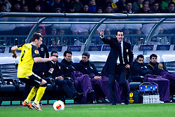 Unai Emery Etxegoien, head coach of Sevilla FC, during football match between NK Maribor and Sevilla FC (ESP) in 1st Leg of Round of 32 of UEFA Europa League 2014 on February 20, 2014 at Stadium Ljudski vrt, Maribor, Slovenia. Photo by Matic Klansek Velej / Sportida