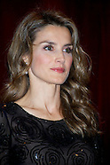110713 Princess Letizia of Spain Attends 'The Royal Academy of Language' Income Act For Carme Riera