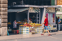 THEMENBILD - Obst ud Gemüse am Stadtmarkt, aufgenommen am 13. August 2019 in Rijeka, Kroatien // Fruit and vegetables at the town market in Rijeka, Croatia on 2019/08/13. EXPA Pictures © 2019, PhotoCredit: EXPA/ JFK