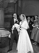 04/10/1956<br /> 10/04/1956<br /> 04 October 1956<br /> <br /> Wedding - Mr George Evans, Glenbeigh, Kerry and Miss Miriam Ann O'Connell, Landsdowne Rd., Dublin at University Church (Church of Ireland)