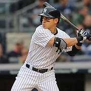 Jacoby Ellsbury, New York Yankees, batting during the New York Yankees V Baltimore Orioles home opening day at Yankee Stadium, The Bronx, New York. 7th April 2014. Photo Tim Clayton