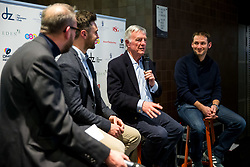 Mike Wilds and Le Mans Winner Nick Tandy join Dino Zamparelli as he hosts the launch of his 2017 Porsche Carrera Cup GB and Britcar Race Season - Rogan Thomson/JMP - 08/03/2017 - MOTORSPORT - Ashton Gate Stadium - Bristol, England.