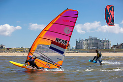 Lilian de Geus training in Scheveningen. Lilian will represent the Netherlands in the RS:X Women class during  2020 Summer Olympics 13th May 2019.