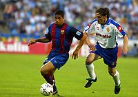 Fotball<br /> Spania 2003/04<br /> Real Zaragoza v Barcelona<br /> 23. mai 2004<br /> Foto: Digitalsport<br /> NORWAY ONLY<br /> Michael Reiziger Barcelona