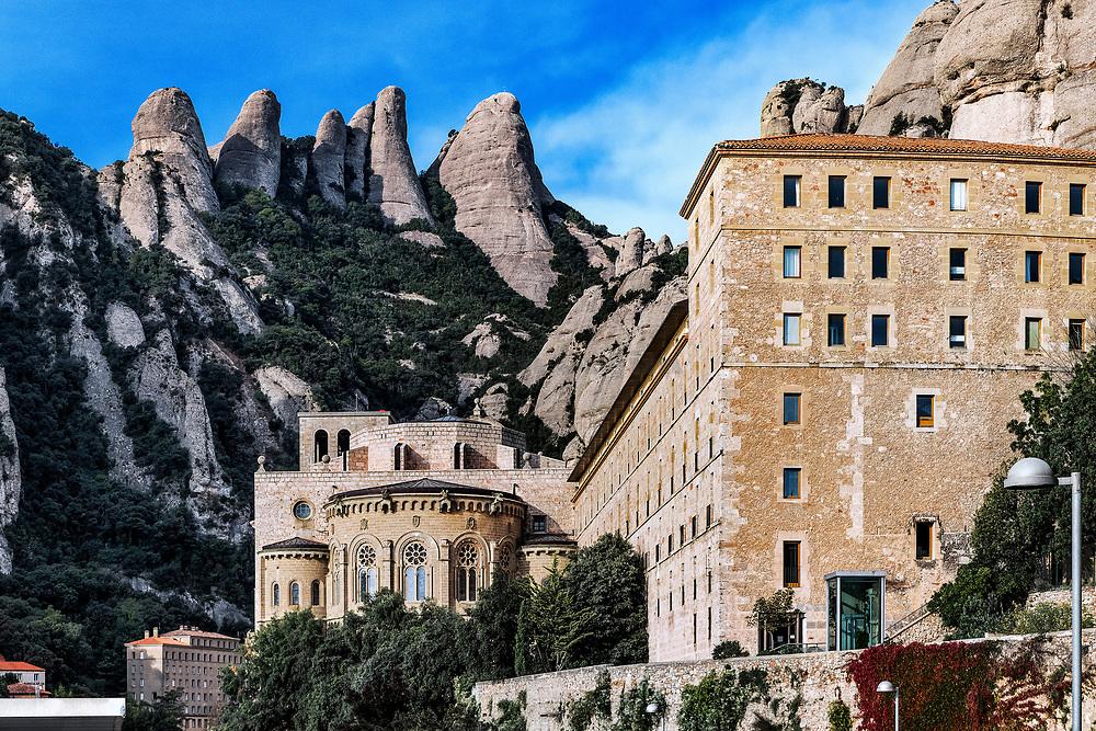 Santa Maria de Montserrat Abbey, Monistrol de Montserrat, Catalonia, Spain.