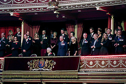 Queen Elizabeth II (centre) with members of the royal family attend the annual Royal British Legion Festival of Remembrance at the Royal Albert Hall in Kensington, London.