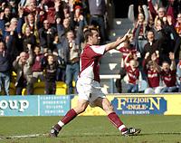 Photo: Ian Hebden.<br />Peterborough United v Northampton Town. Coca Cola League 2. 01/04/2006.<br />Northamptons Scott McGleish celebrates his goal.