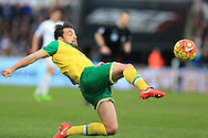 Russell Martin of Norwich city in action..Barclays Premier league match, Swansea city v Norwich city at the Liberty Stadium in Swansea, South Wales  on Saturday 5th March 2016.<br /> pic by  Andrew Orchard, Andrew Orchard sports photography.