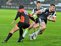 Rugby Union - 2019 / 2020 Guinness Pro14 - Ospreys vs. Southern Kings<br /> <br /> James Hook of Ospreys cuts inside John-Thomas Jackson, of Southern Kings, at The Liberty Stadium.<br /> <br /> COLORSPORT/WINSTON BYNORTH