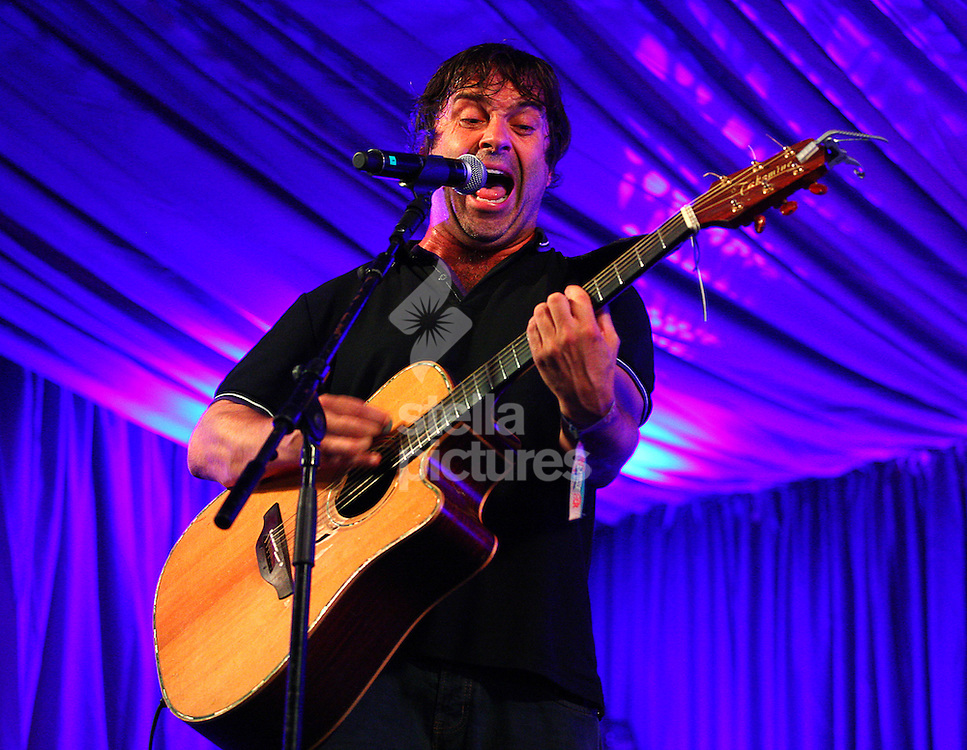 Picture by Rob Fisher/Stella Pictures. .14/07/12.Phil Nicoli performs at Latitude, a music and arts festival in Suffolk..
