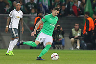 Saint-Etienne Forward Nolan Roux during the Europa League match between Saint-Etienne and Manchester United at Stade Geoffroy Guichard, Saint-Etienne, France on 22 February 2017. Photo by Phil Duncan.