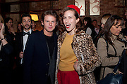 CHRISTOPHER KANE; CHARLOTTE DELLAL, BFC/Vogue Designer Fashion Fund winner Christopher Kane announcement. Almada, 33 Dover Street, London,2 February 2011 -DO NOT ARCHIVE-© Copyright Photograph by Dafydd Jones. 248 Clapham Rd. London SW9 0PZ. Tel 0207 820 0771. www.dafjones.com.