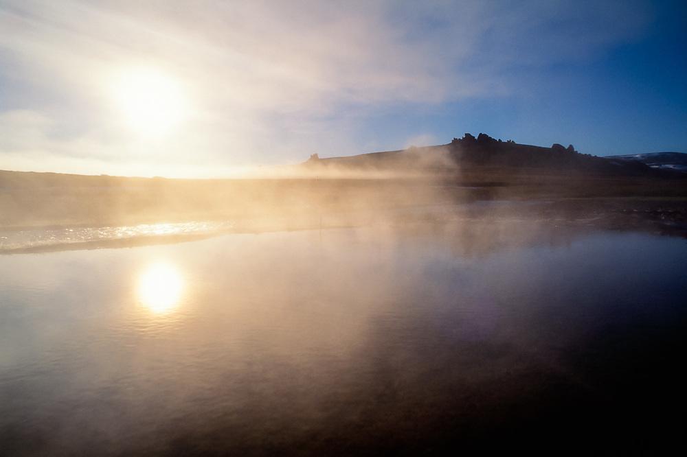 Serpentine Hot Springs, late June, Bering Land Bridge National Preserve, Alaska, USA