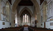 Early English architecture from the 13th century inside the church at Potterne, Wiltshire, England, UK