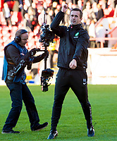 09/11/14 SCOTTISH PREMIERSHIP <br /> ABERDEEN v CELTIC <br /> PITTODRIE - ABERDEEN<br /> Celtic manager Ronny Deila celebrates at full time