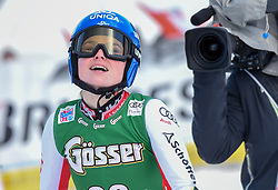 28.12.2018, Panoramapiste, Semmering, AUT, FIS Weltcup Ski Alpin, Riesenslalom, Damen, 2. Lauf, im Bild Bernadette Schild (AUT) // Bernadette Schild of Austria reacts after her 2nd run of ladie's Giant Slalom of FIS ski alpine world cup at the Panoramapiste in Semmering, Austria on 2018/12/28. EXPA Pictures © 2018, PhotoCredit: EXPA/ Erich Spiess