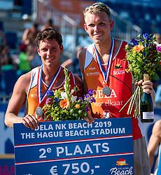 25-08-2019 NED: DELA NK Beach Volleyball, Scheveningen<br /> Last day NK Beachvolleyball / Dirk Boehlé, Stefan Boermans