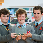 """27.04.2016.          <br />  Kalin Foy and Ciara Coyle win SciFest@LIT<br /> Kalin Foy and Ciara Coyle from Colaiste Chiarain Croom to represent Limerick at Ireland's largest science competition.<br /> <br /> Pictured are Ardscoil Ris students, Neil Heffernan, Liam Mulcahy and Seán Lynch who won the SEAI Energy Award with their project , """"The Internet of Green Things"""" - Monitoring greenhouse growing conditions remotely over the Internet.<br /> <br /> Of the over 110 projects exhibited at SciFest@LIT 2016, the top prize on the day went to Kalin Foy and Ciara Coyle from Colaiste Chiarain Croom for their project, 'To design and manufacture wireless trailer lights'. The runner-up prize went to a team from John the Baptist Community School, Hospital with their project on 'Educating the Youth of Ireland about Farm Safety'.   Picture: Alan Place"""
