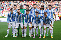 Malaga´s initial players during 2014-15 La Liga match between Atletico de Madrid and Malaga at Vicente Calderon stadium in Madrid, Spain. November 22, 2014. (ALTERPHOTOS/Victor Blanco)