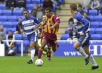 © Peter Spurrier/Sportsbeat Images<br /> <br />04/10/2003 - Photo  Peter Spurrier<br />2003/04 Nationwide Football Div 1 Reading Town FC v Bradford City FC.<br />Ben Muirhead running through midfield.