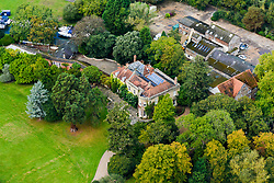 EXCLUSIVE Aerial view of George Clooney's reported new marital home in the UK. This is the £7.5M (GBP) home Clooney is rumoured to have bought as a wedding present for wife Amal Alamuddin in the county of Berkshire. The palatial manor house sits on its own island in the River Thames and comes complete with its own boat house and spa. Local residents have dubbed the house Clooney Manor.<br />