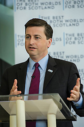 "Shadow Foreign Secretary Douglas Alexander was joined by Sir Kenneth Calman, chair of the Calman Commission,  at an event to mark the 20th anniversary of the death of Labour Leader John Smith and the 15th Anniversary of the first sitting of the Scottish Parliament. Mr Alexander made the case that, as part of the UK, Scotland can have ""a strong Scottish Parliament, with the guarantee of more powers, backed up by the strength, security and stability of being part of the larger UK"". 12 May 2014 (c) GER HARLEY 