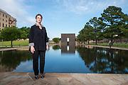 OKC bombing survivor Amy Downs portrait for Oklahoma Living.