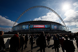 Bristol City Fans make their way to Wembley Stadium before the Match - Photo mandatory by-line: Rogan Thomson/JMP - 07966 386802 - 22/03/2015 - SPORT - FOOTBALL - London, England - Wembley Stadium - Bristol City v Walsall - Johnstone's Paint Trophy Final.