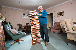 Roy Erskine, Andy Murray's grandad, at home in Dunblane. He has spent a decade documenting the tennis superstar's career in over 30 scrapbooks.