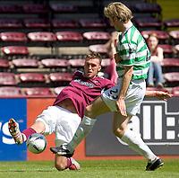 Hearts v Celtic, Scottish Premier League, Tynecastle Park, Edinburgh. Pic Shaun Dempsey, 15/05/2005<br /> Lee Miller shoots past Stan Varga