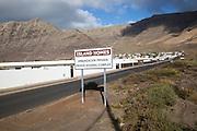 Private housing development of holiday homes La Caleta de Famara, Lanzarote, Canary islands, Spain