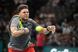 October 30, 2018 - Paris, France - JO -WINIFRIED TSONGA of France during his first round match in the Rolex Paris Masters tennis tournament in Paris France. (Credit Image: © Christopher Levy/ZUMA Wire)