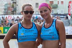 Monika Potokar and Ana Skarlovnik at tournament for Slovenian national championship - Drzavno prvenstvo Kranj 2013 on July 26, 2013, in Kranj, Slovenia. (Photo by Matic Klansek Velej / Sportida)