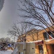 Plaza Vista construction site and JJ's Restaurant explosion site.