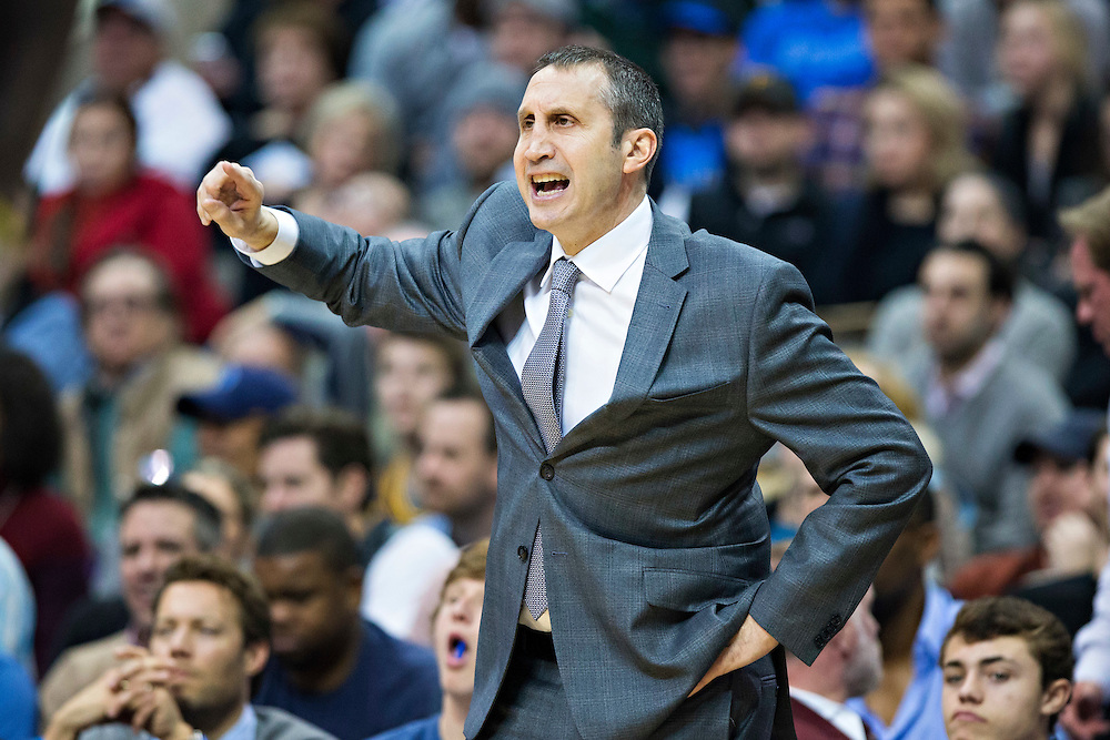 DALLAS, TX - JANUARY 12:  Head Coach David Blatt of the Cleveland Cavaliers watches his team during a game against the Dallas Mavericks at American Airlines Center on January 12, 2016 in Dallas, Texas.  NOTE TO USER: User expressly acknowledges and agrees that, by downloading and or using this photograph, User is consenting to the terms and conditions of the Getty Images License Agreement.  The Cavaliers defeated the Mavericks 110-107.  (Photo by Wesley Hitt/Getty Images) *** Local Caption *** David Blatt